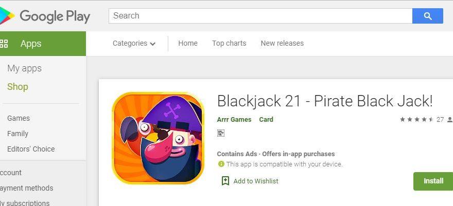 Tanpa Unsur Taruhan! Mainkan Saja Game Blackjack 21 - Pirate Black Jack!